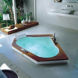 Ванна Jacuzzi Aura Corner wood version 140х140