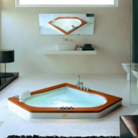 Ванна Jacuzzi Aura Corner wood version 160х160